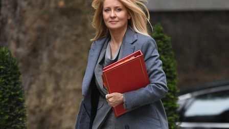Work and Pensions Secretary Esther McVey arrives in Downing Street. Photo: Stefan Rousseau/PA Wire.