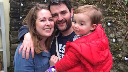 A crowdfunding page has been set up for Leah O'Connell, pictured here with husband Colm and son Seth