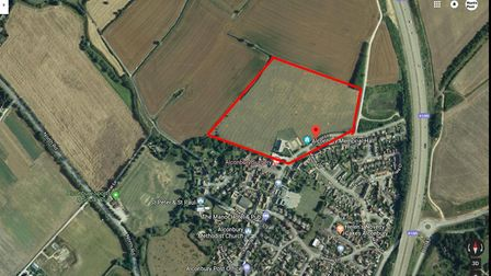 The site where the houses are proposed to be