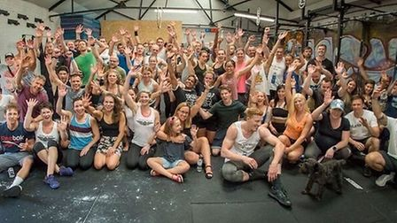 The competitors in the CrossFit St Albans Summer Throwdown.