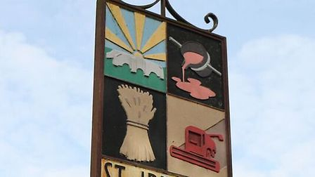 Even the village sign is bursting with character