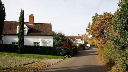 Some of the village's attractive period properties