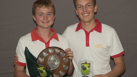 Buckden duo Mack May (left) and Ben Reed (right) enjoyed success at the county finals. Picture: RICH