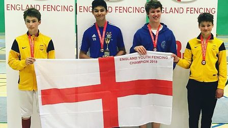 Harpenden's Tom Raut has become English fencing champion.