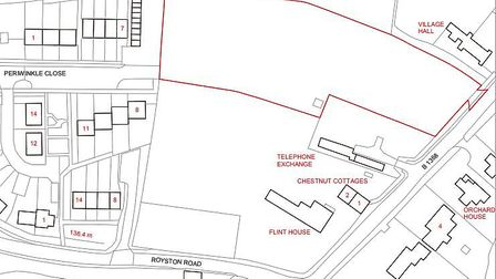 The site in Barkway where developers have won planning permission for a 12-home development. Picture