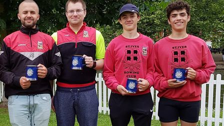 St Ives rowers, from the left, Elliott Hammond, Matt Wright, Sam Hasted and Rory Crouch were all suc