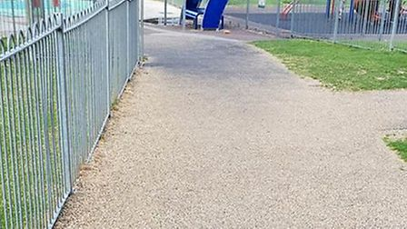 Gravel has been installed on paths in Royston's Priory Memorial Gardens. Picture: Chris Lamont