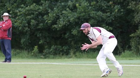 Harpenden in the field in the match between Harpenden and Letchworth. Picture: DANNY LOO