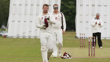 Harpenden wicket keeper in the match between Harpenden and Letchworth. Picture: DANNY LOO