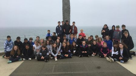 Greneway pupils in France. Picture: Greneway