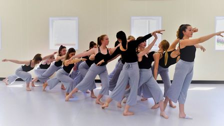St Albans Girls School Advance Dancers confidently ride on their wave of recent success. Picture: ST