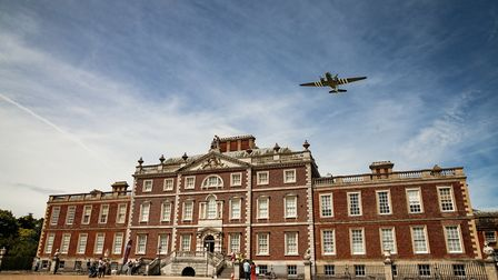 Dakota aircraft flies over WImpole Hall. Picture: Martin Bond