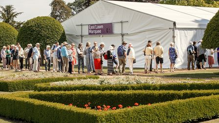 The crowds going into the East Lawn Marquee Picture: Martin Bond