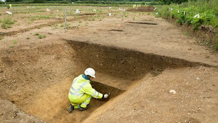 The Roman ditch that was found