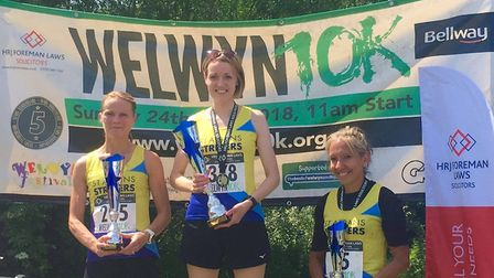 St Albans Striders took a clean-sweep of the podium positions at the Welwyn 10K. Picture: Ruth Kent