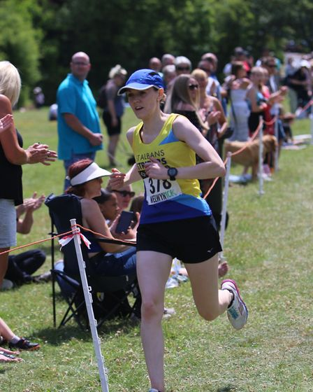 St Albans Striders' Jen Conway on her way to victory at the Welwyn 10K. Picture: Tony Barr