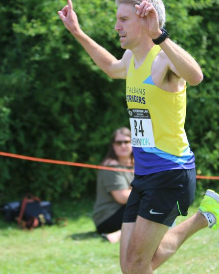 St Albans Striders' Jonathan Scott takes the win at the Welwyn 10K. Picture: Tony Barr
