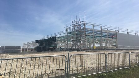 Aldi and an M&S Foodhall are being built between York Way and the A505 in Royston. Picture: Archant