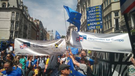 Hertfordshire Unified: St Albans and Harpenden for Europe groups bringing their flags together in s