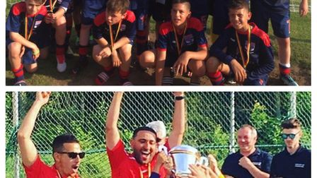 The London Colney Colts U8s and U12s both won trophies in Belgium.