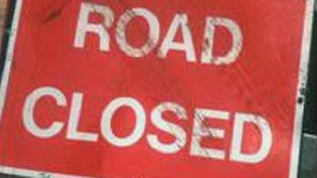 The A1081 is closed through Harpenden.