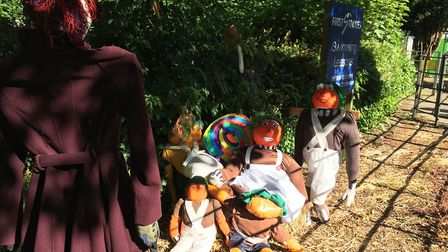 Scarecrows outside Godmanchester Community Primary School. Picture: ARCHANT
