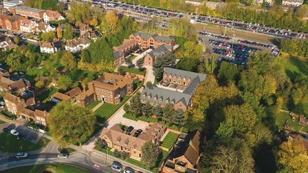 An aerial view showing how the Welcombe House collection will look once complete