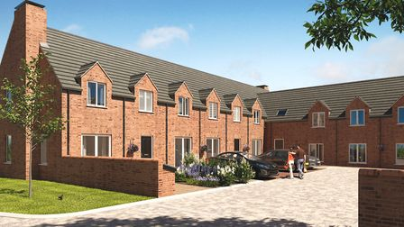 A CGI of Welcombe Gardens, part of the Welcombe House collection