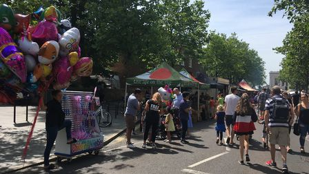 Crowds at the Alban Street Festival on Sunday. Picture: Archant