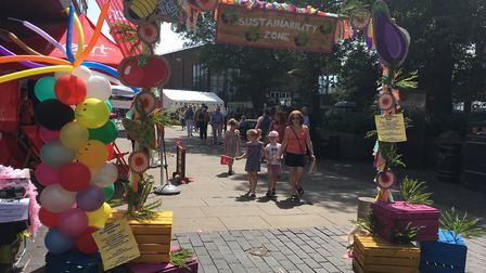 The Sustainability Zone at the Alban Street Festival on Sunday. Picture: Archant
