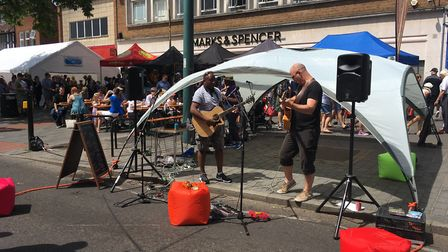 Performers at the Alban Street Festival on Sunday. Picture: Archant