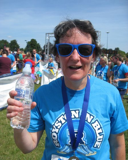 Royston district councillor Ruth Brown after the run. Picture: Carol Stanier
