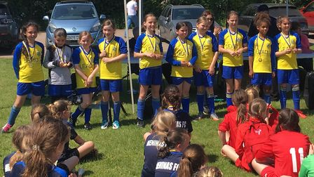St Albans City Youth U10 girls won the club's own small-sided tournament.