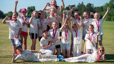 Winners and runners-up celebrate together. Picture: Fiona McCarthy Photography