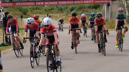 Verulam Reallymoving's Will Smith (second from left) took the overall win at the U14 Cyclopark Youth