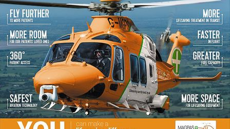 Magpas is raising money for a new helicopter, set to enter service in 2019. Picture: CONTRIBUTED