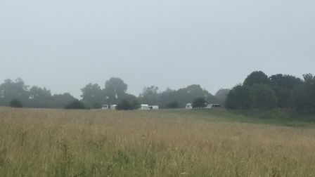 The travellers in Wheathampstead. Picture: Supplied