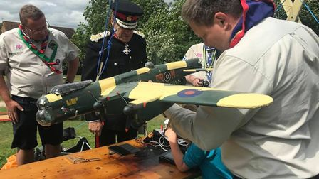 Scouts celebrating the centenary of 1st London Colney Scout Group. Picture: Roger Morton.