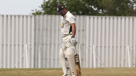 Radlett's Fakir Dungaria in the match between Radlett and Harpenden. Picture: DANNY LOO