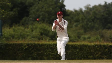 Harpenden in the field in the match between Radlett and Harpenden. Picture: DANNY LOO