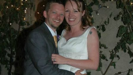 Emily Barbet with her husband Andy. Picture: Courtesy of Emily Barbet