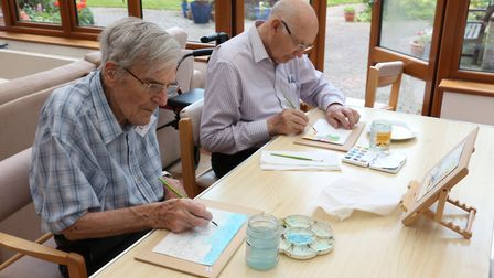 Art therapy at Grove House.