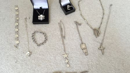 Some of the jewellery taken during the burglary in Great Gransden. Picture: CONTRIBUTED
