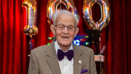 Eddie at 100. Picture: www.stevepearcyphotography.co.uk