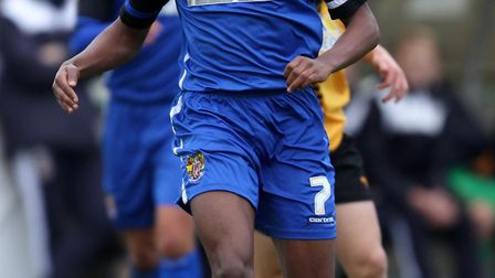 Claudio Ofosu playing for Stevenage's Under 18 side. Picture: HARRY HUBBARD