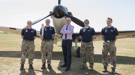 The RAF Baton Relay went to IWM Duxford at the weekend. Picture: @IWMDuxford