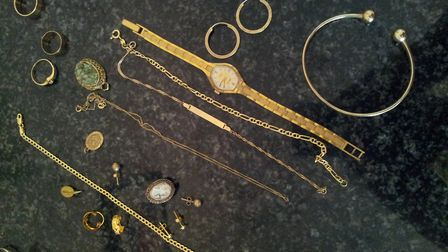 The jewellery stolen in the burglary in St Albans. Picture: Herts Police
