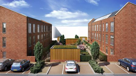 A CGI image of the Beaumont Gardens development in St Albans