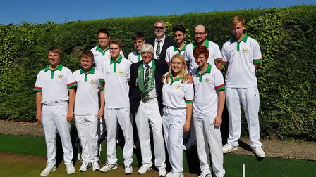 The successful Hunts Under 25 'A' team who won the Southern section of the Reg Wright Trophy. They a