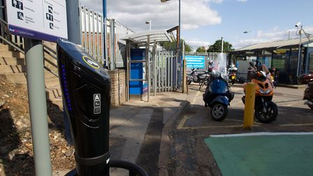 The electric car charging points at St Albans station